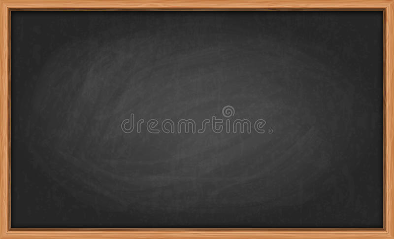 Blackboard in wooden frame royalty free illustration