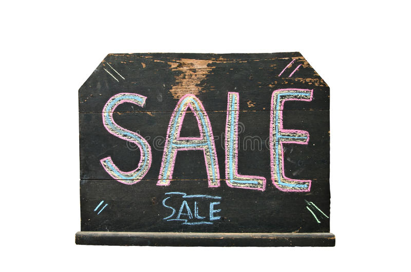 Blackboard with the word sale written on it royalty free stock photos