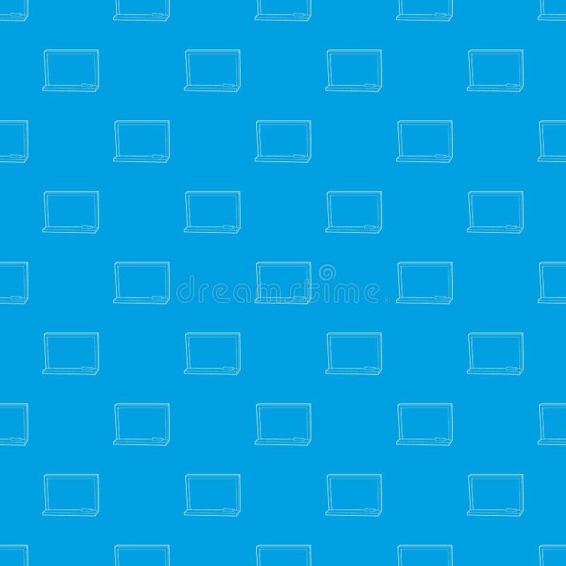 Blackboard z kreda wzoru wektorowym bezszwowym błękitem ilustracji