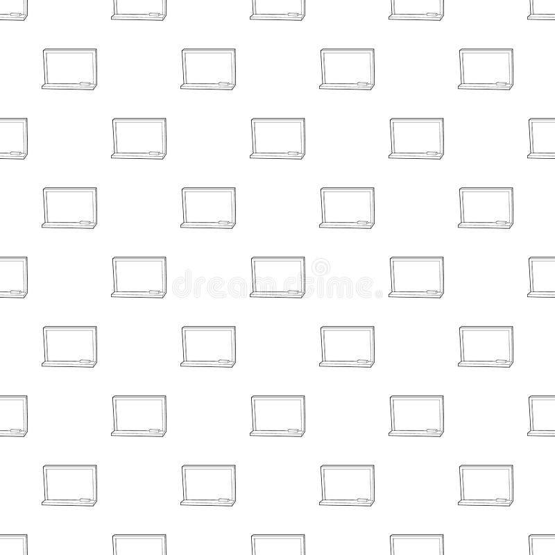 Blackboard z kredową ikoną, konturu styl royalty ilustracja