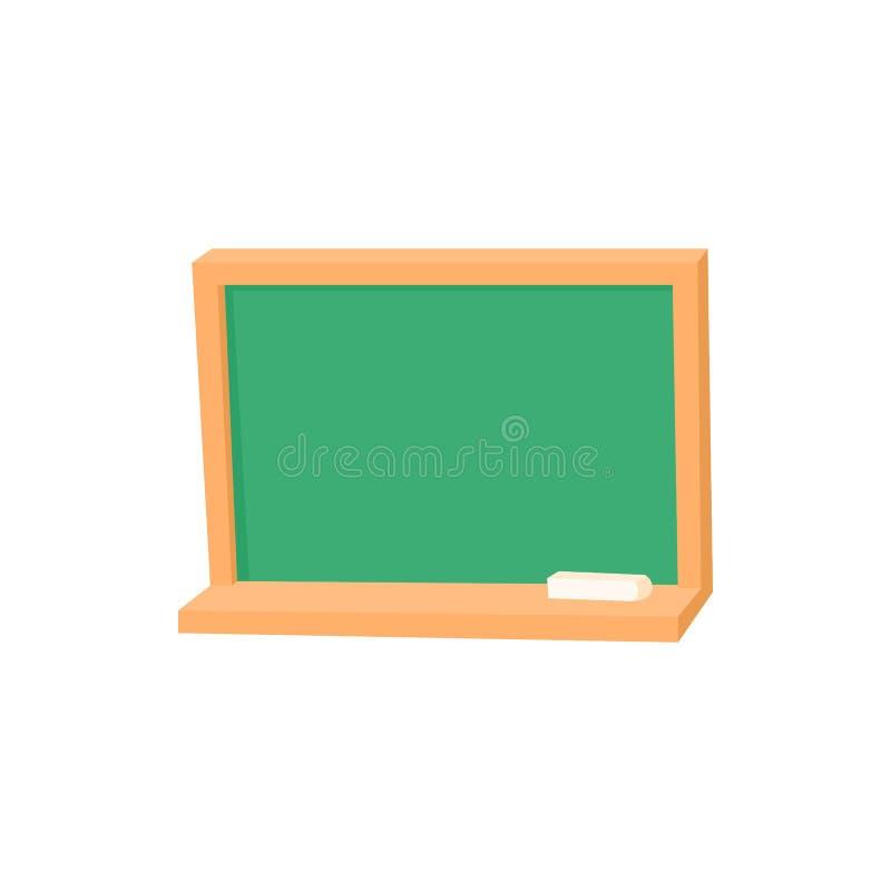 Blackboard z kredową ikoną, kreskówka styl ilustracji