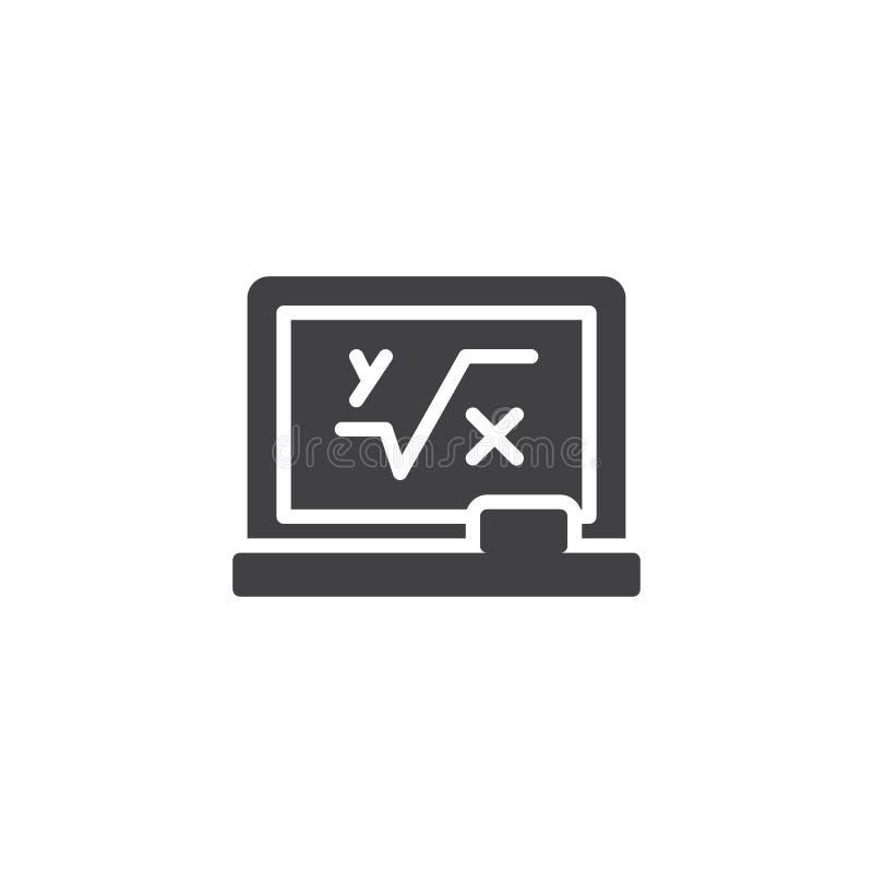 Blackboard z matematycznie formuły wektoru ikoną ilustracja wektor
