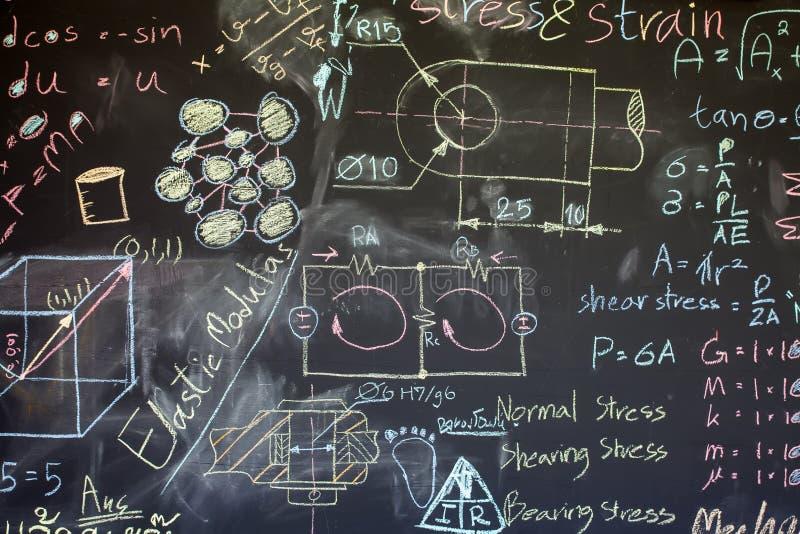 Blackboard z mnóstwo dane pisać dalej obraz royalty free