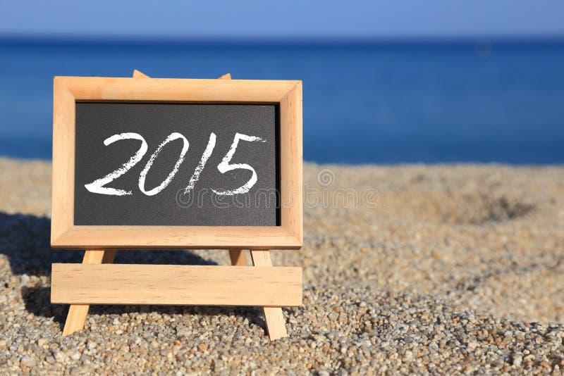 Blackboard z 2015 tekstem obrazy stock