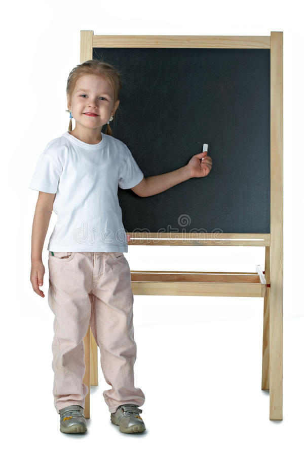 blackboardflicka little fotografering för bildbyråer