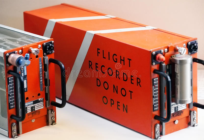 Blackbox flight recorder royalty free stock images