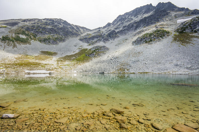 Blackcomb Lake in a summer time stock images