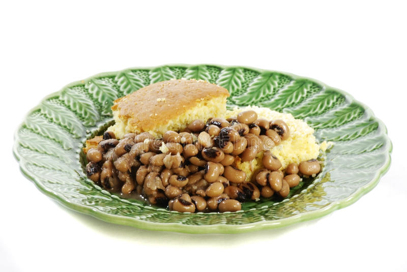 Download Blackeyed Peas And Cornbread Stock Photo - Image: 13741274