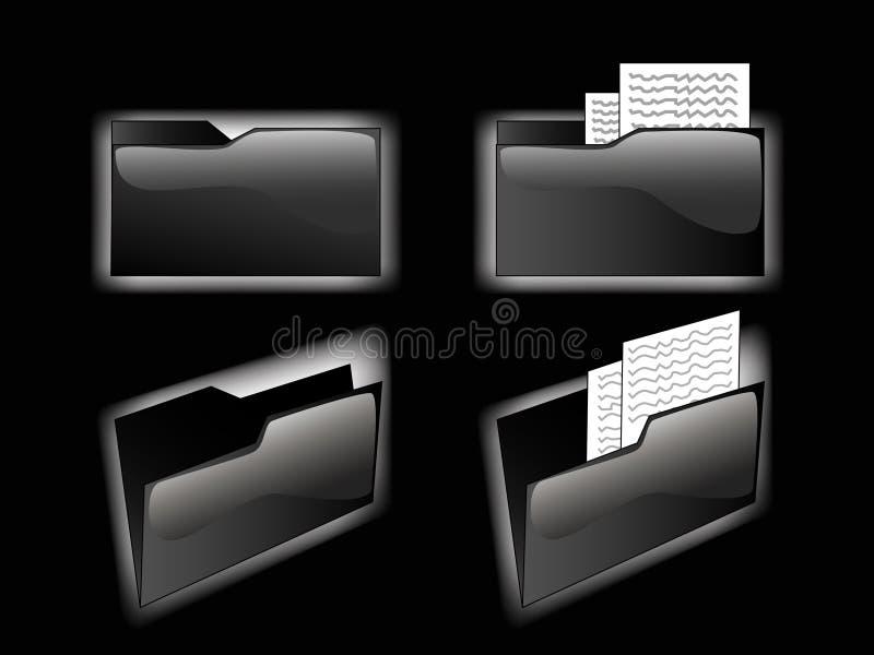 blackfolders διανυσματική απεικόνιση