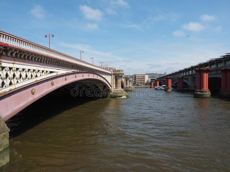 blackfriars桥梁伦敦 免版税库存图片