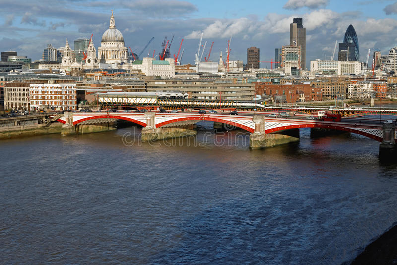 Blackfriars Bridge London royalty free stock photography