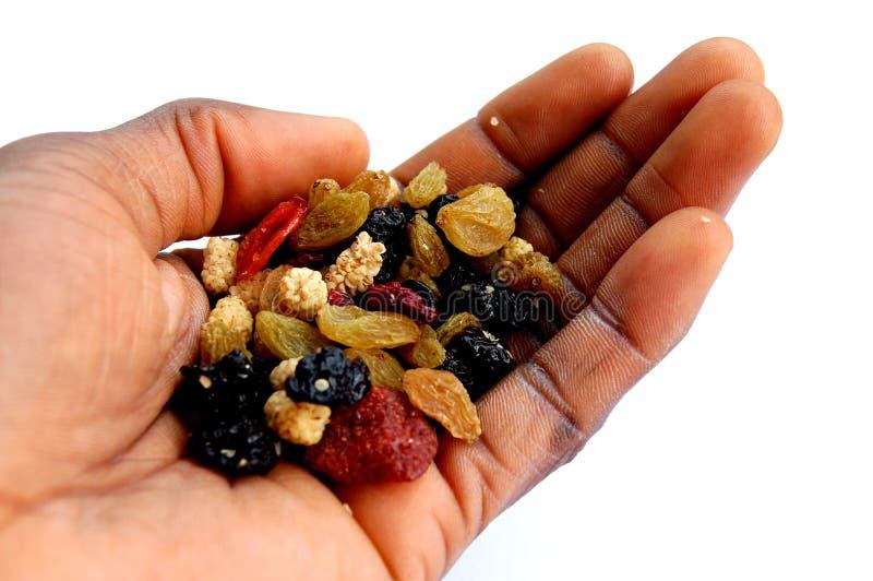 Download Blackhand en droge bessen stock afbeelding. Afbeelding bestaande uit gezond - 298145