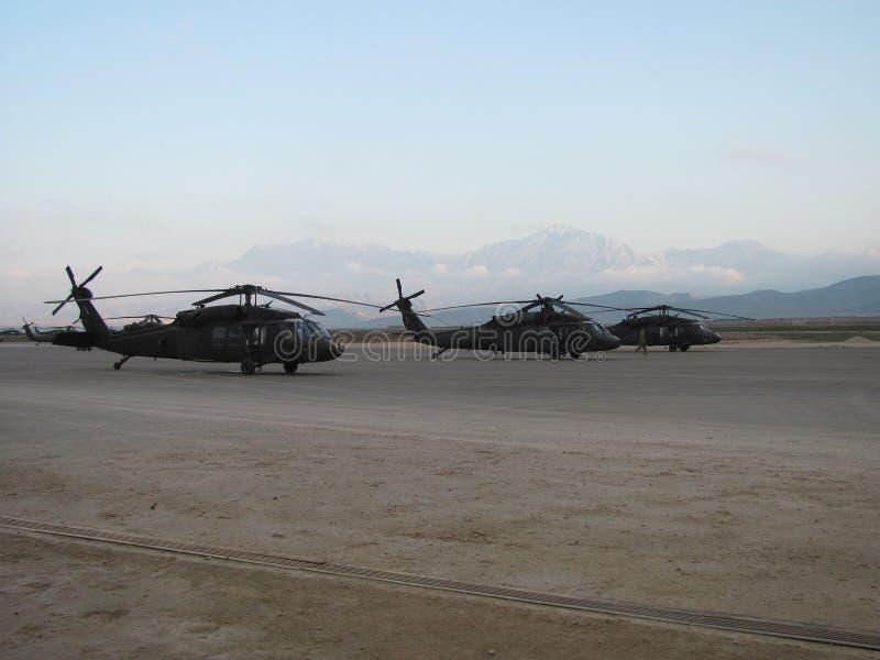 Blackhawk直升机在阿富汗 免版税库存图片