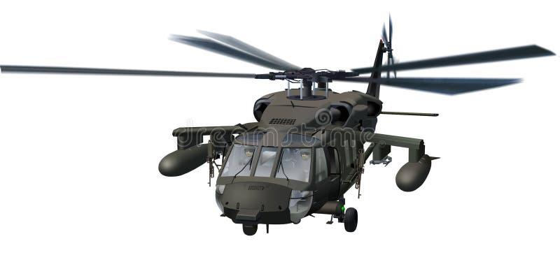 Blackhawk Helicopter. Illustration. Support/Rescue/Attack Helo vector illustration