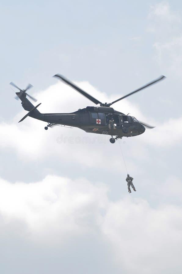 Blackhawk helikopter arkivfoton