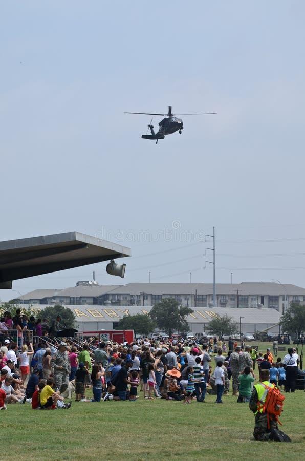 Blackhawk räddningsaktionhelikopter fotografering för bildbyråer