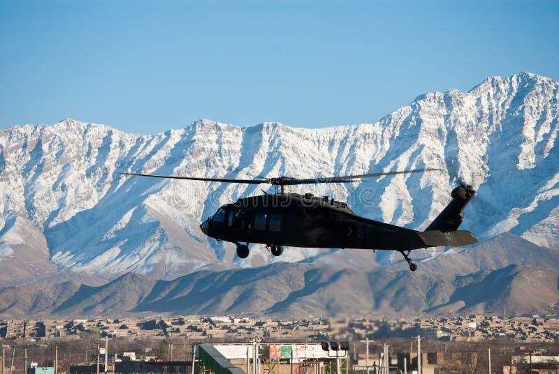 blackhawkkabul landning royaltyfri foto