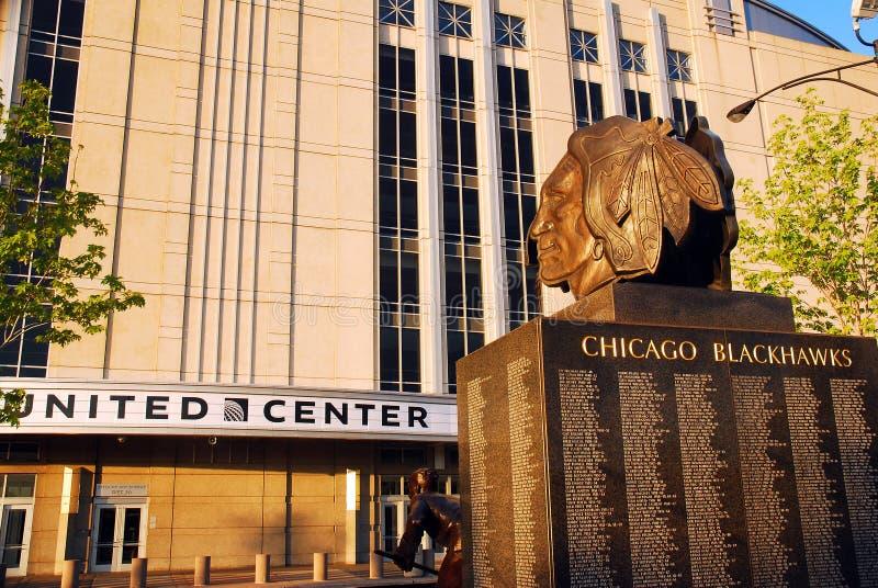 Blackhawks, centro unito, Chicago fotografia stock
