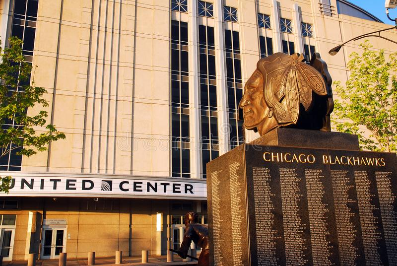 Blackhawks, verenigde Centrum, Chicago stock fotografie