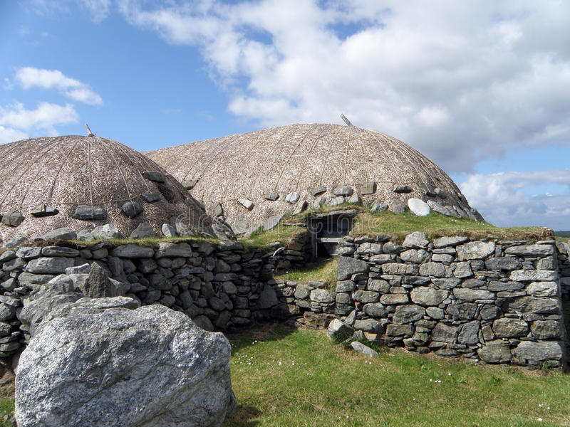Blackhouse, Arnol, isla de Lewis fotos de archivo libres de regalías