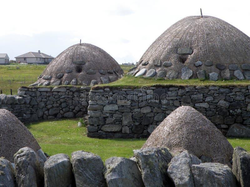 Blackhouse, Arnol, isola di Lewis immagini stock