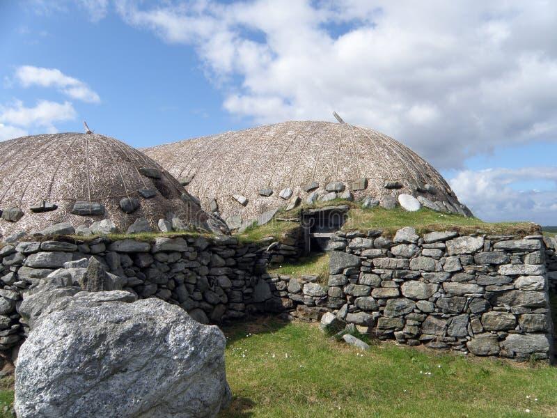 Blackhouse, Arnol, isola di Lewis fotografie stock libere da diritti
