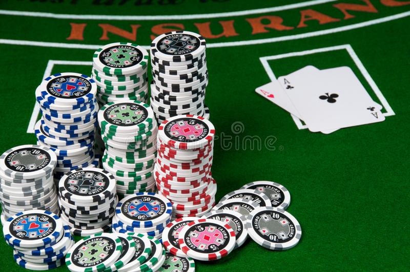 Download Blackjack stock image. Image of green, luck, table, leisure - 13645245