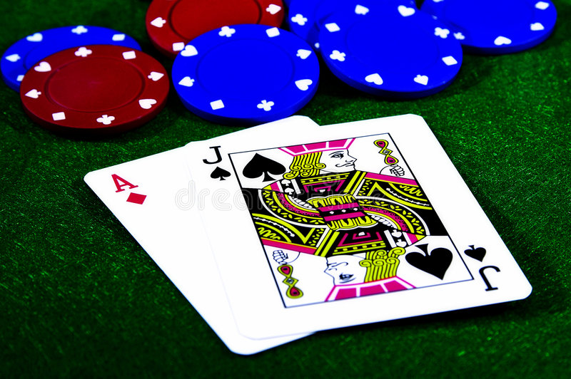 blackjack royaltyfria foton