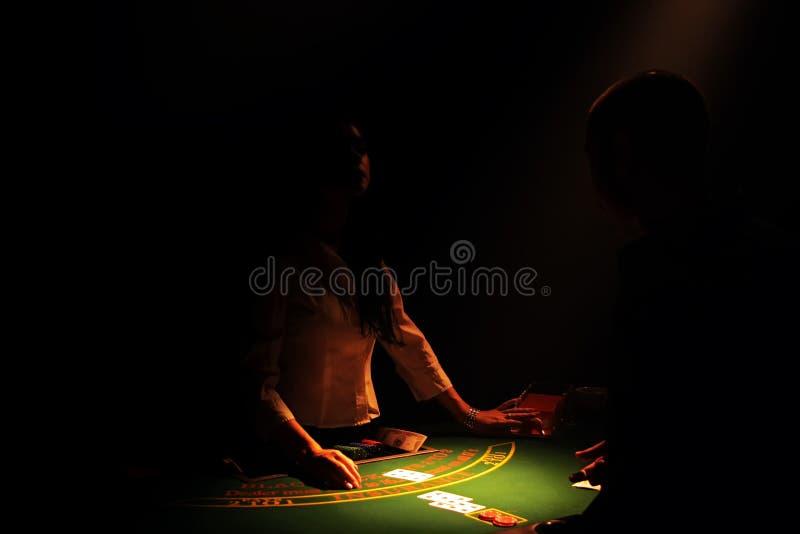 Blackjack Croupier lizenzfreie stockfotografie