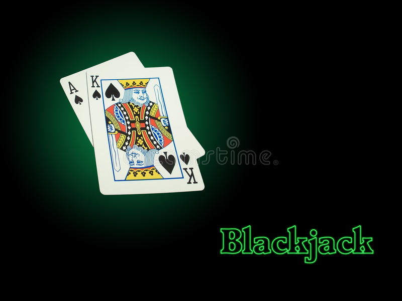 Blackjack de néon fotos de stock