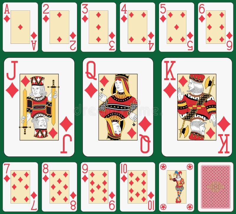 Blackjack Diamond suit large index vector illustration