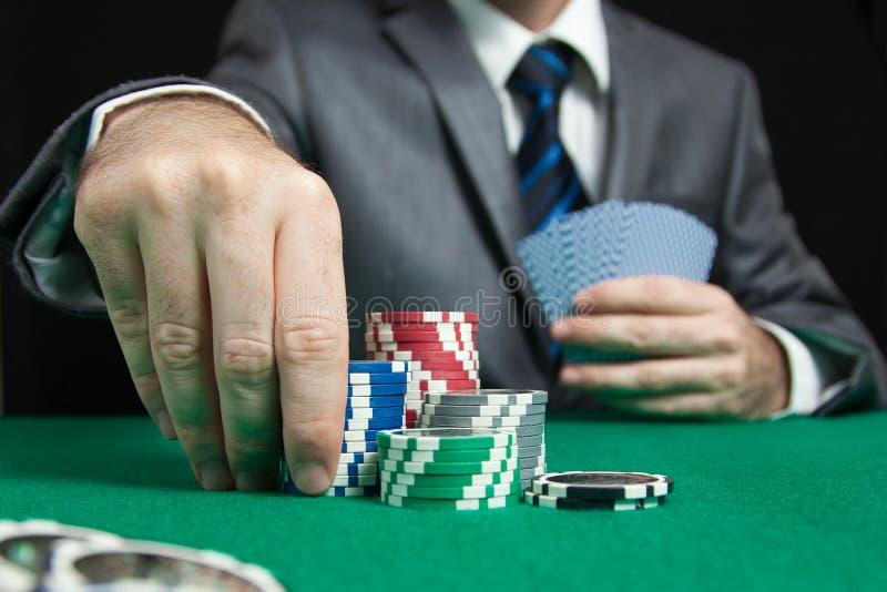 Blackjack in een Casino het Gokken Spel royalty-vrije stock afbeeldingen