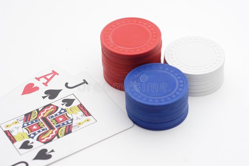 Download Blackjack żetonów Stos Pokera. Obraz Stock - Obraz złożonej z biały, para: 136367