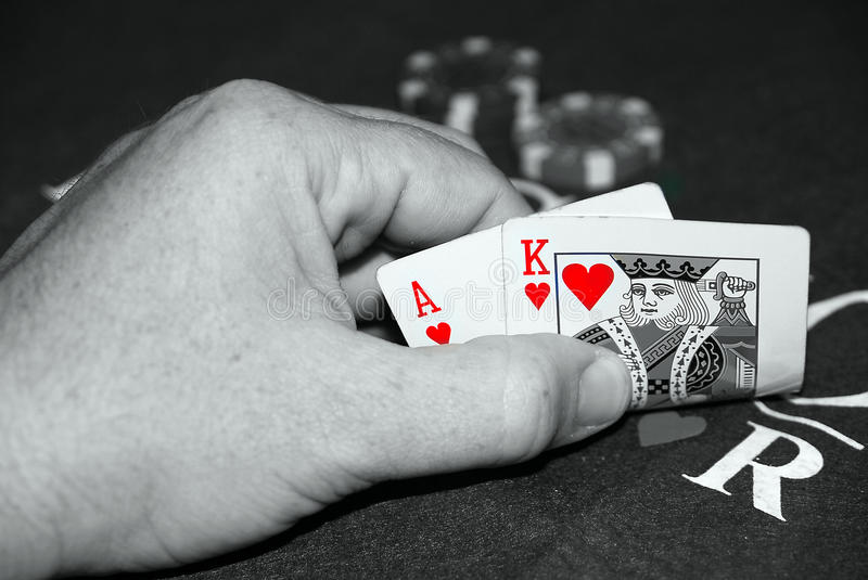 Blackjack Hand Of Cards Royalty Free Stock Photography