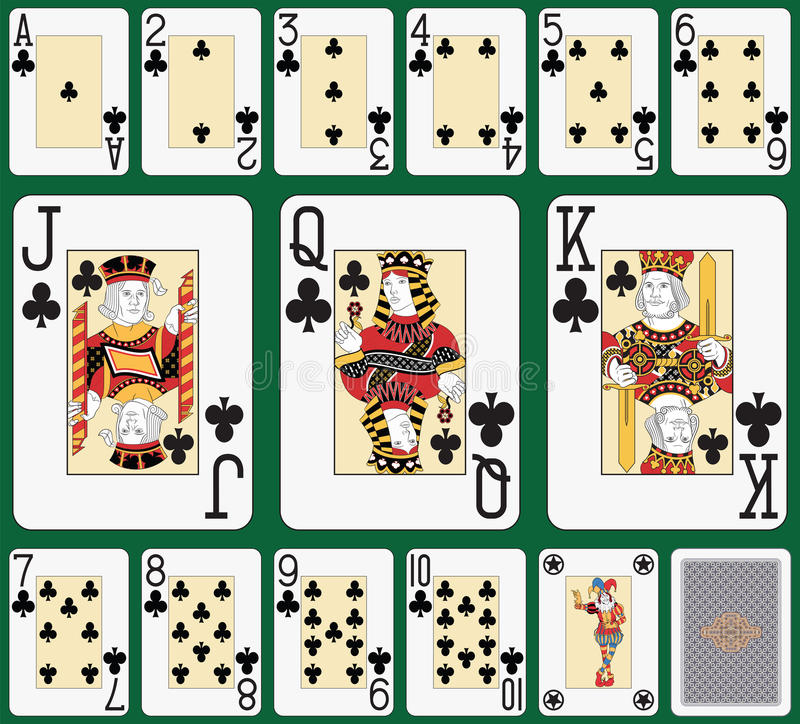 Blackjack klubu kostiumu ampuły wskaźnik royalty ilustracja