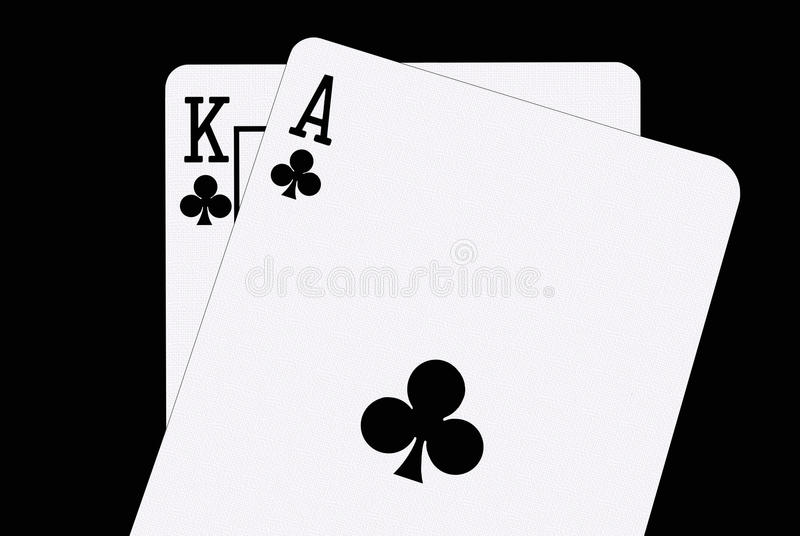 Blackjack in Spades stock afbeelding