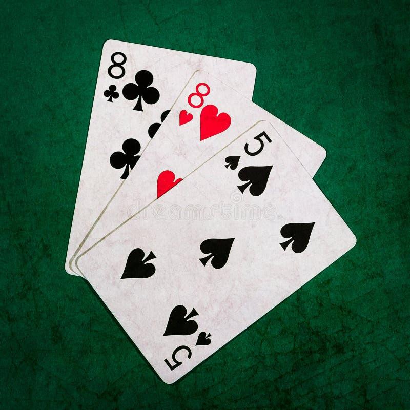 Blackjack zwanzig eine 11 - Quadrat lizenzfreie stockbilder