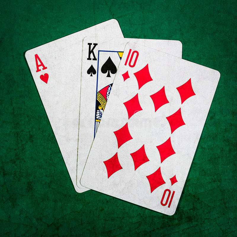 Blackjack zwanzig eine 2 - Quadrat stockfoto