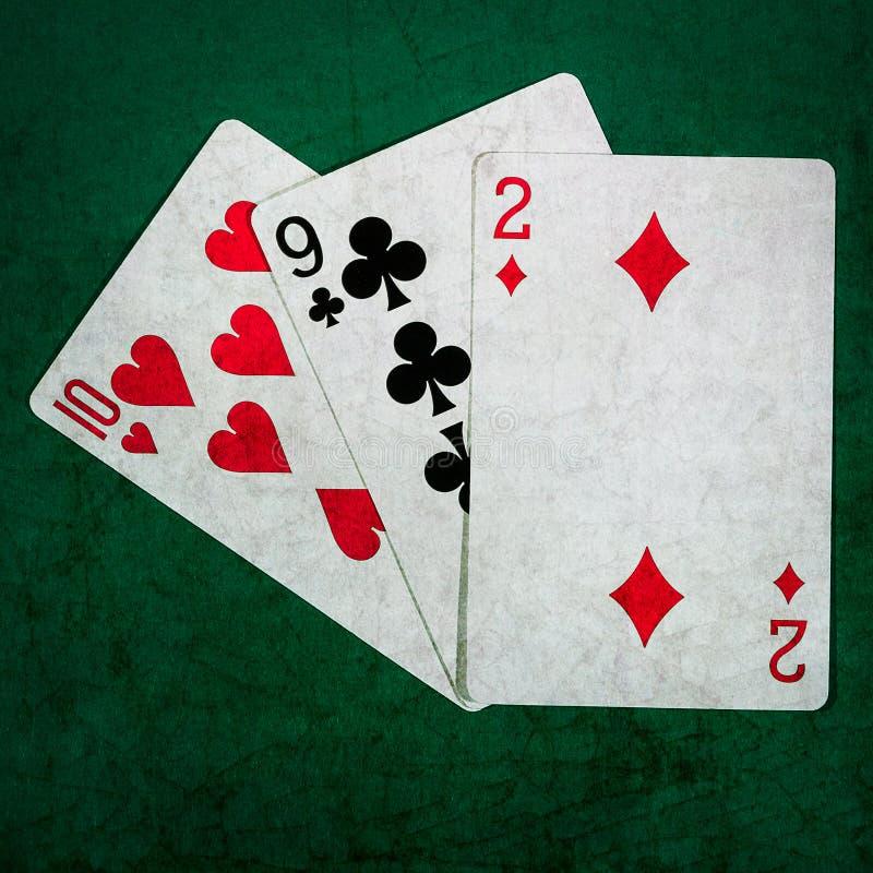 Blackjack zwanzig eine 9 - Quadrat stockbild