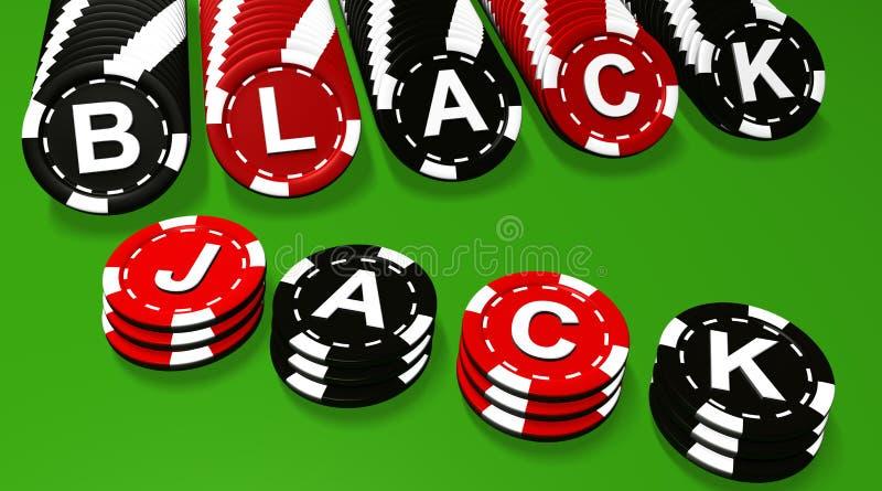 blackjacken chips tecknet stock illustrationer