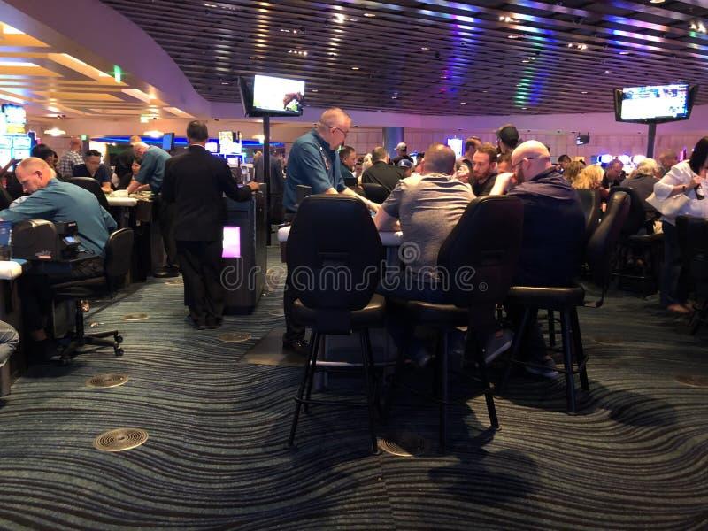 Blackjacklijsten bij een Casino royalty-vrije stock afbeeldingen