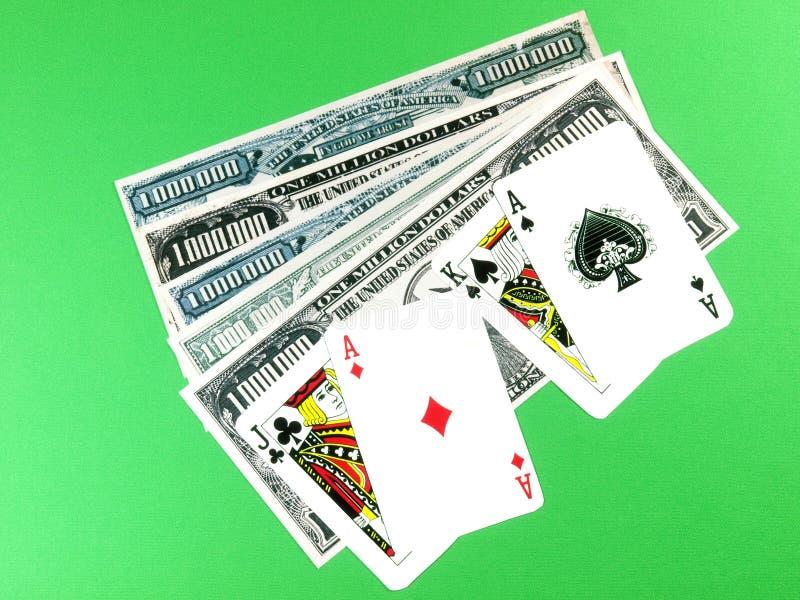 Blackjacksieger lizenzfreie stockbilder
