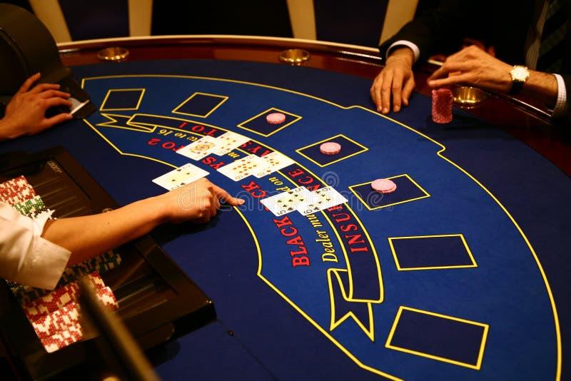 Blackjackspel stock afbeelding