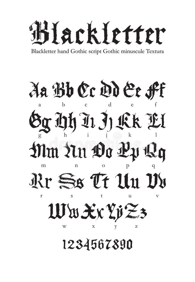 Download Blackletter Font Stock Vector Illustration Of Decorative