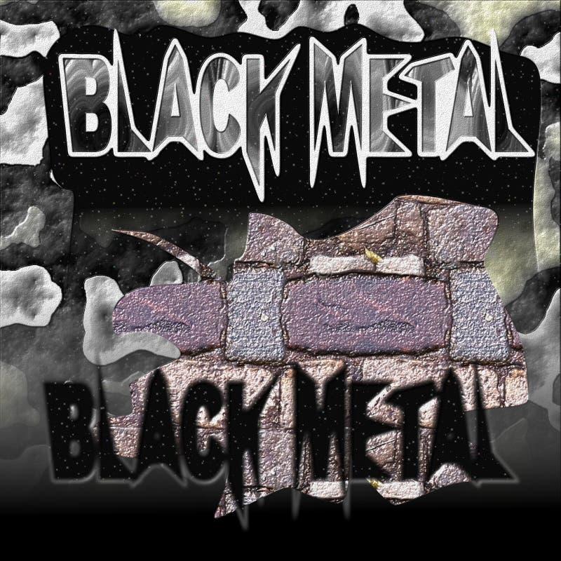 BlackMetal fotografia stock