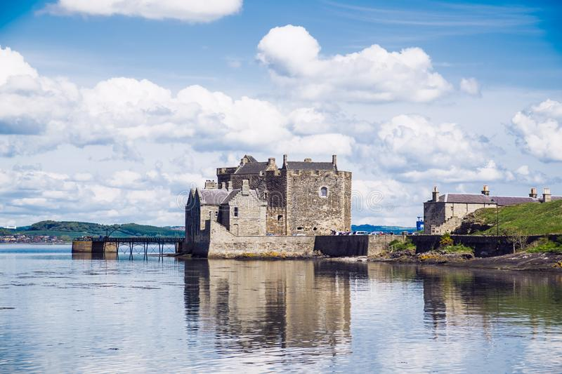 Blackness Castle on the Firth of Forth, near Linlithgow, Scotland, UK. The castle has been a film and TV location for Hamlet, Iva. Nhoe and most recently stock images