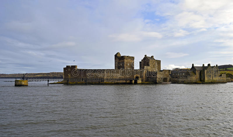 Blackness castle a 15th century scottish castle on the firth of forth. Blackness castle was built in the 1440`s by Sir George Crichton . It is was built as the royalty free stock photos