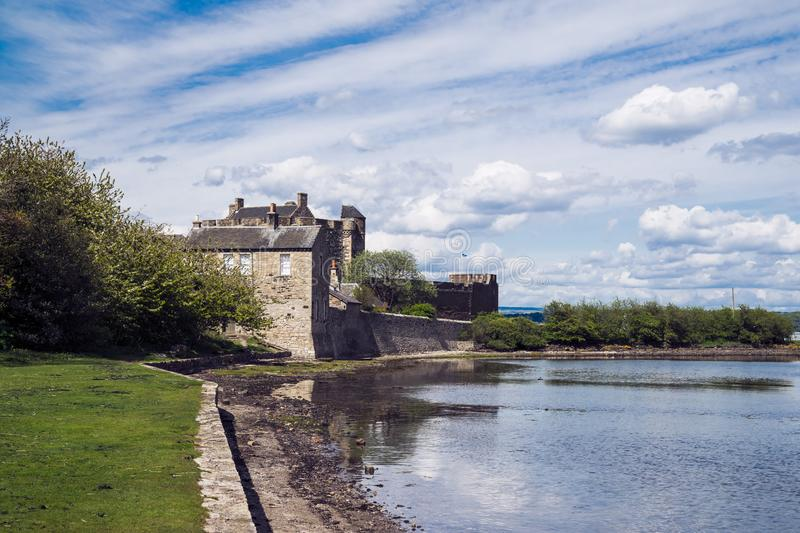 Blackness Castle; a 15th century Scottish fortress on the south. Shore of the Firth of Forth, Scotland, UK stock photos