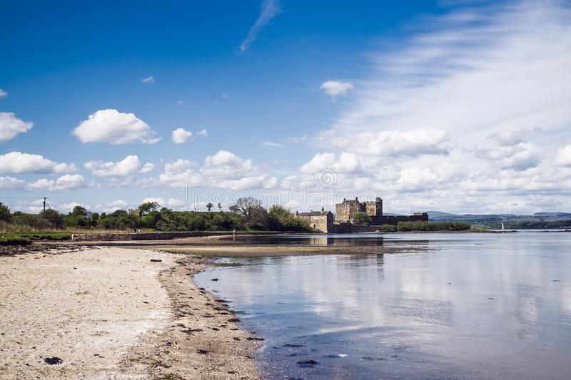 Blackness Castle; a 15th century Scottish fortress on the south. Shore of the Firth of Forth, Scotland, UK royalty free stock images