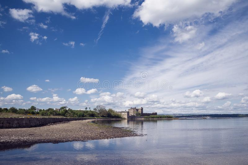 Blackness Castle; a 15th century Scottish fortress on the south. Shore of the Firth of Forth, Scotland, UK stock photo